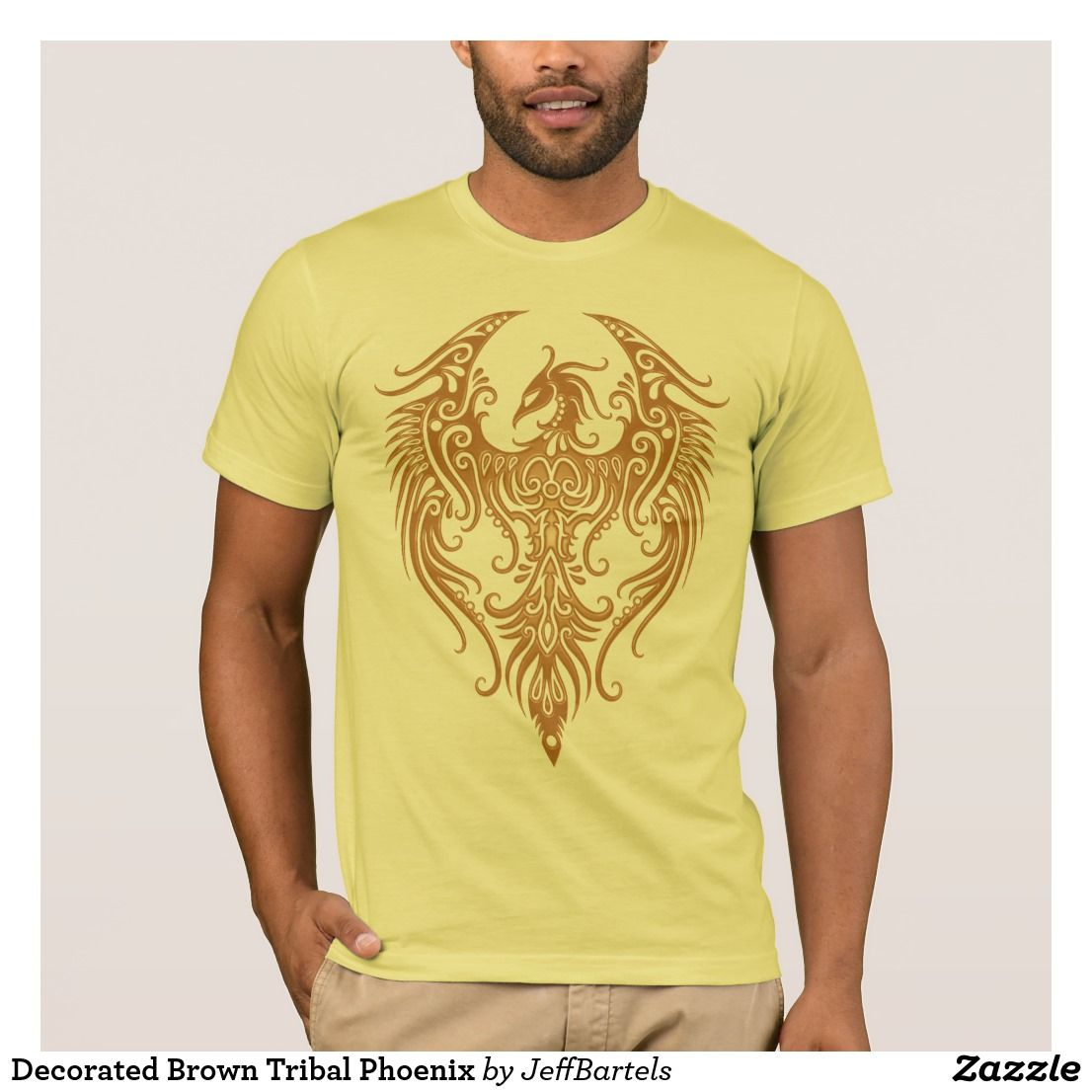 Create your own designs amp sell your design online shirts zazzle - Decorated Brown Tribal Phoenix T Shirt