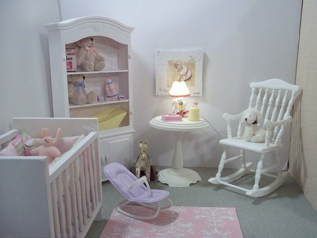 A Barbie Fashion Doll Story scale Nursery by Vanessa