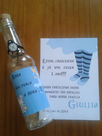 Convite Alice relogio