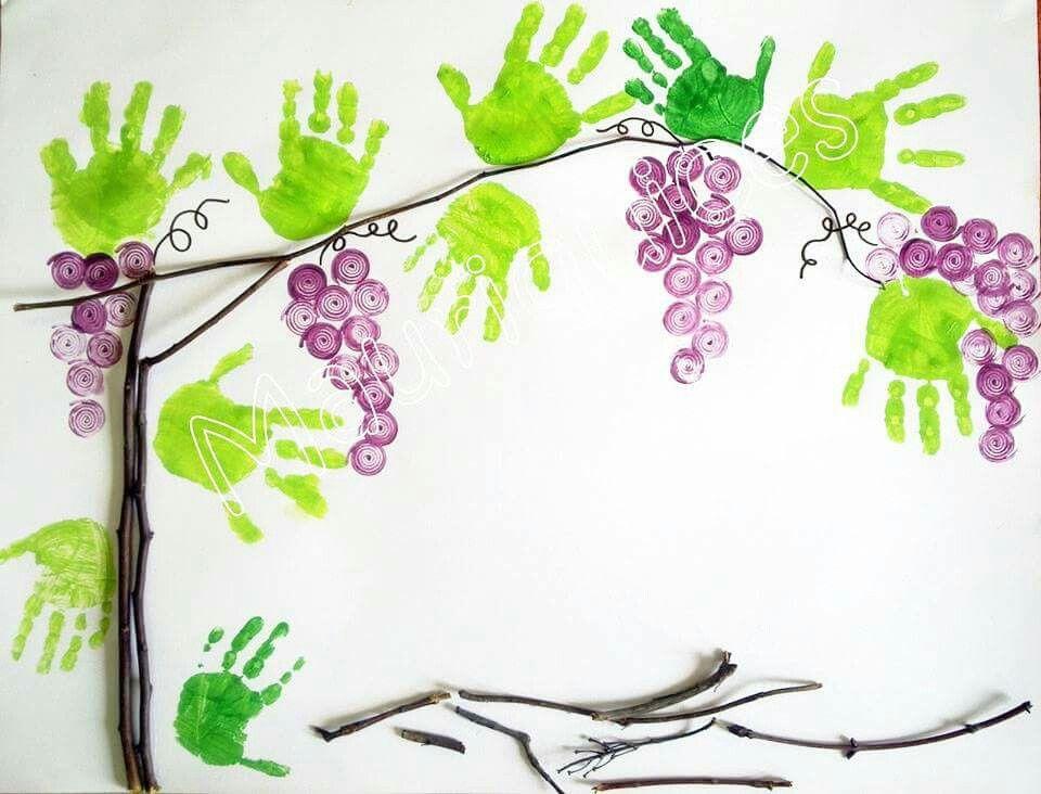Tralci di vite basteln bastelideen herbst herbst for Kindergottesdienst herbst