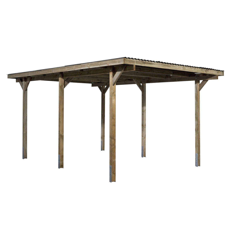 Flachdach Einzelcarport Holz 300 Cm X 500 Cm Kaufen Bei Obi In 2020 Einzelcarport Carport Flachdach