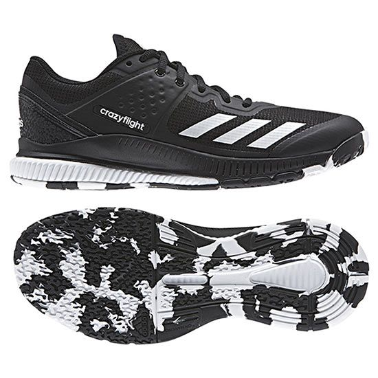 innovative design dfcb6 011f0 Adidas Women s Crazyflight Bounce Volleyball Shoes  Comes in Black Black,  White Icy Blue   Black Power Red