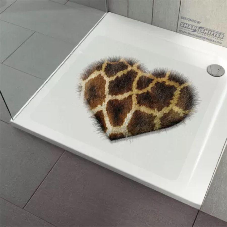 Anti Rutsch Dusche Badewanne Dusch Einlage Matte Aufkleber Fluffy Heart Giraffe Decor Ebay Bath