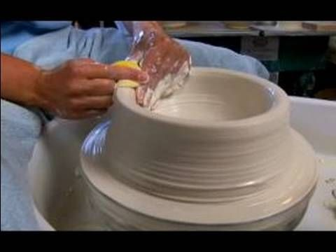 How to Make Pottery Bowls : Pulling Up the Wall to Make Large Pottery Bowls - YouTube