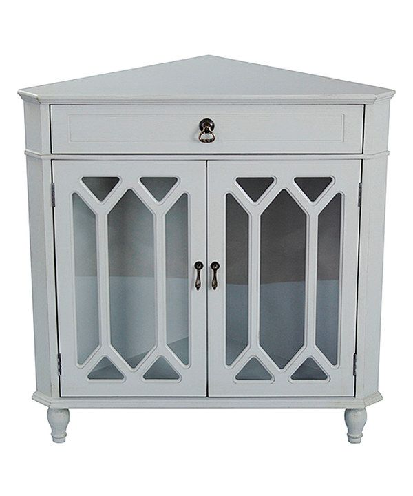 Look at this Seafoam Green Hexagon Window Corner Cabinet on #zulily today!