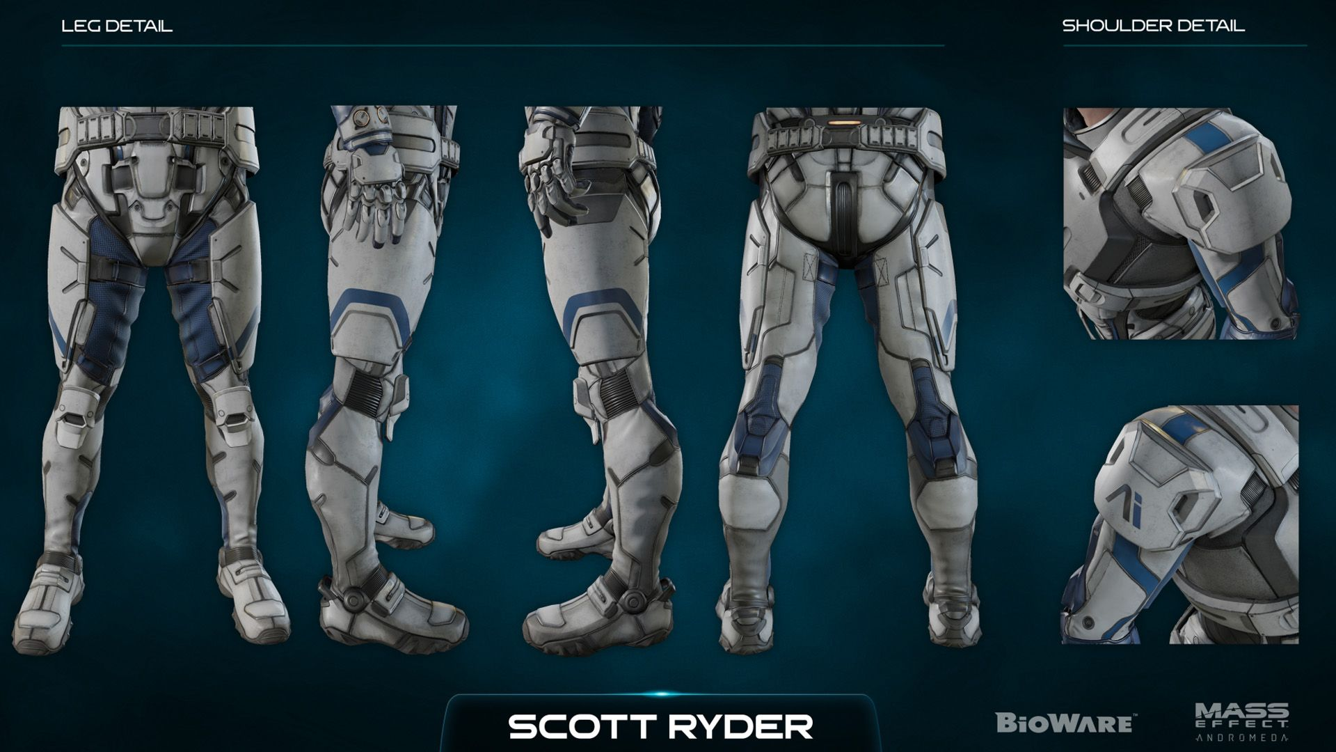 Лиам Коста, Character Kit - Концепт-арт Mass Effect: Andromeda