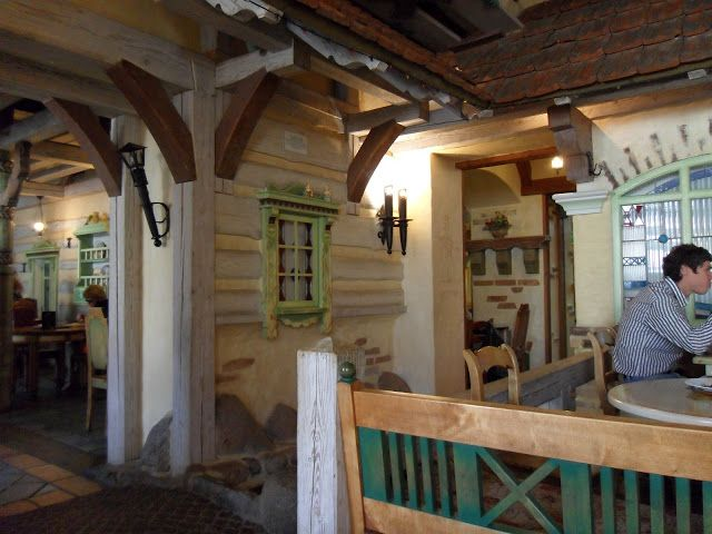 Interior of Log House