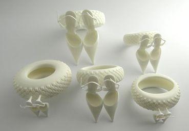 3D Printed Jewelry by TED NOTEN #3dPrintedJewelry