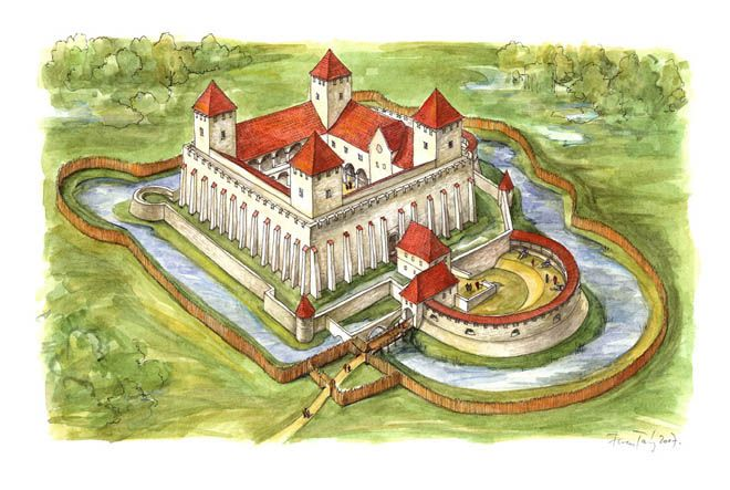 A Reconstruction Of Thury Castle In Hungary During The Middle Ages By Ferenc Tamas Burgen Und Schlosser Festungen Burg