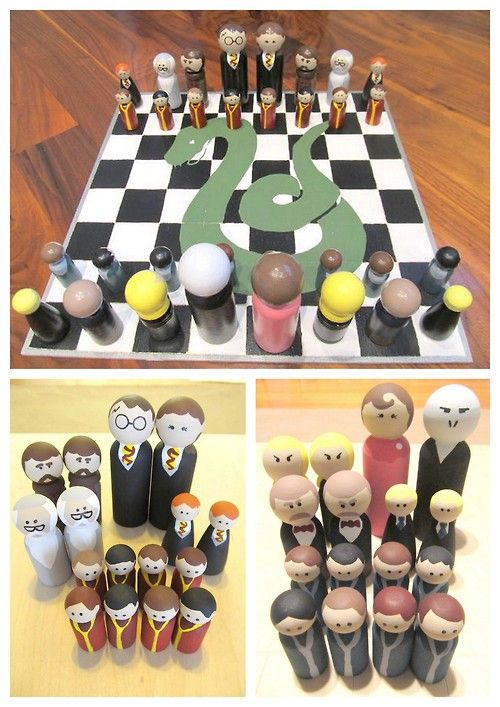 Diychristmascrafts Diy Easy Harry Potter Peg People Chess