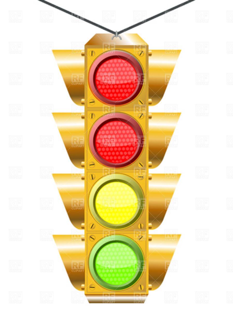 Traffic Light With Four Lights Traffic Light Clip Art Free Clip Art