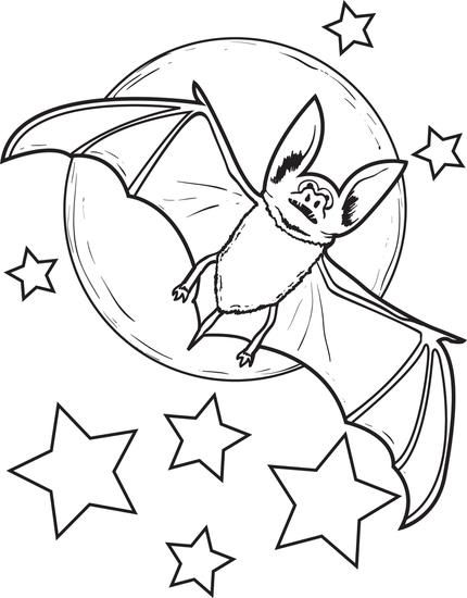 Free Printable Bat Coloring Page For Kids Our Flower Pots To