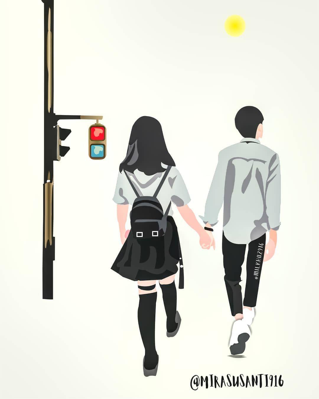 54+ Gambar Animasi Couple Kekinian