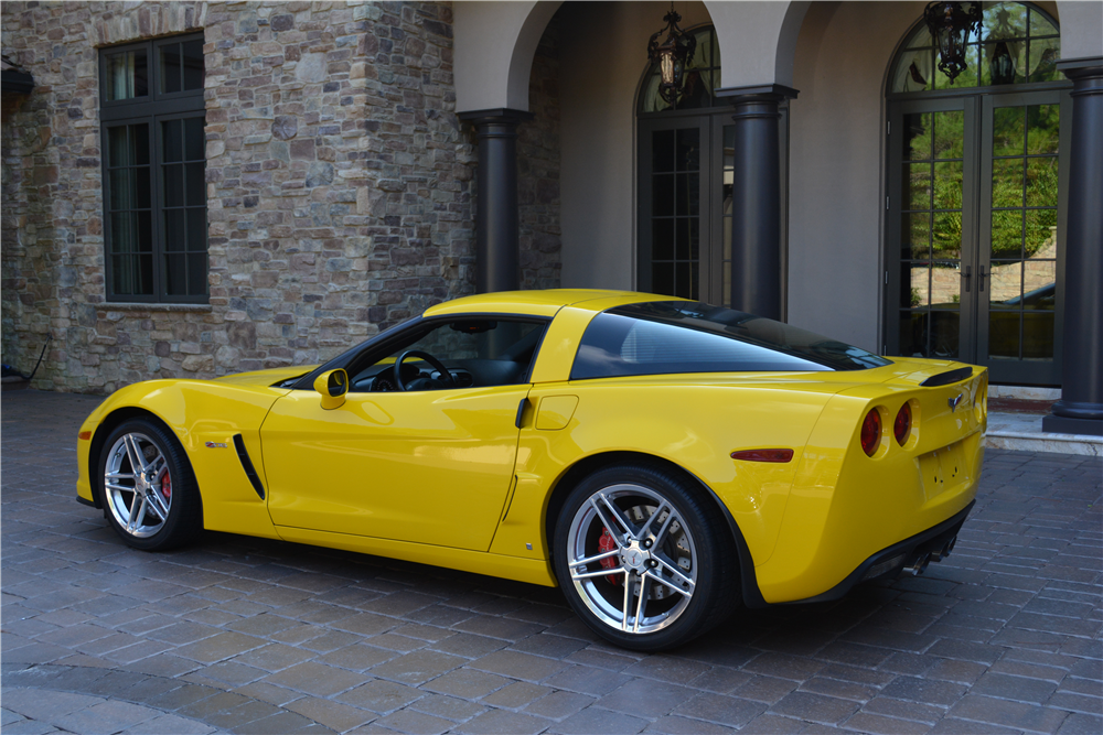 2007 Chevrolet Corvette Z06 Vin 001 Rear 3 4 200466 Chevrolet Corvette Z06 Chevrolet Corvette Corvette Z06