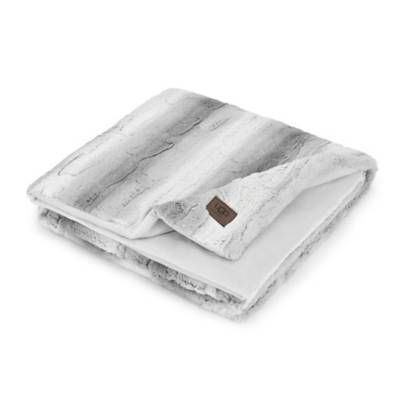 Ugg Throw Blanket Entrancing Product Image For Ugg® Dawson Stripe Faux Fur Throw Blanket In Grey Inspiration