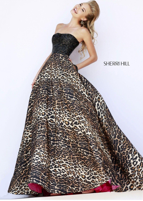 Sherri Hill 32176 Leopard Print Ball Gown  CrushingOnRissyRoos ... 930455d3a