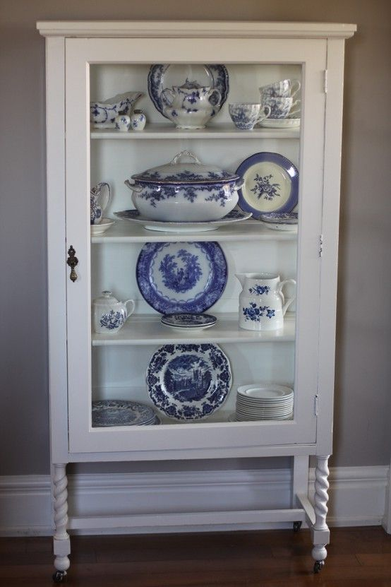 For My Blue And White Kitchen I Want This Cabinet
