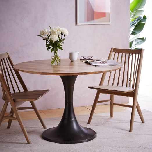 $719 Cast Pedestal Dining Table | West Elm