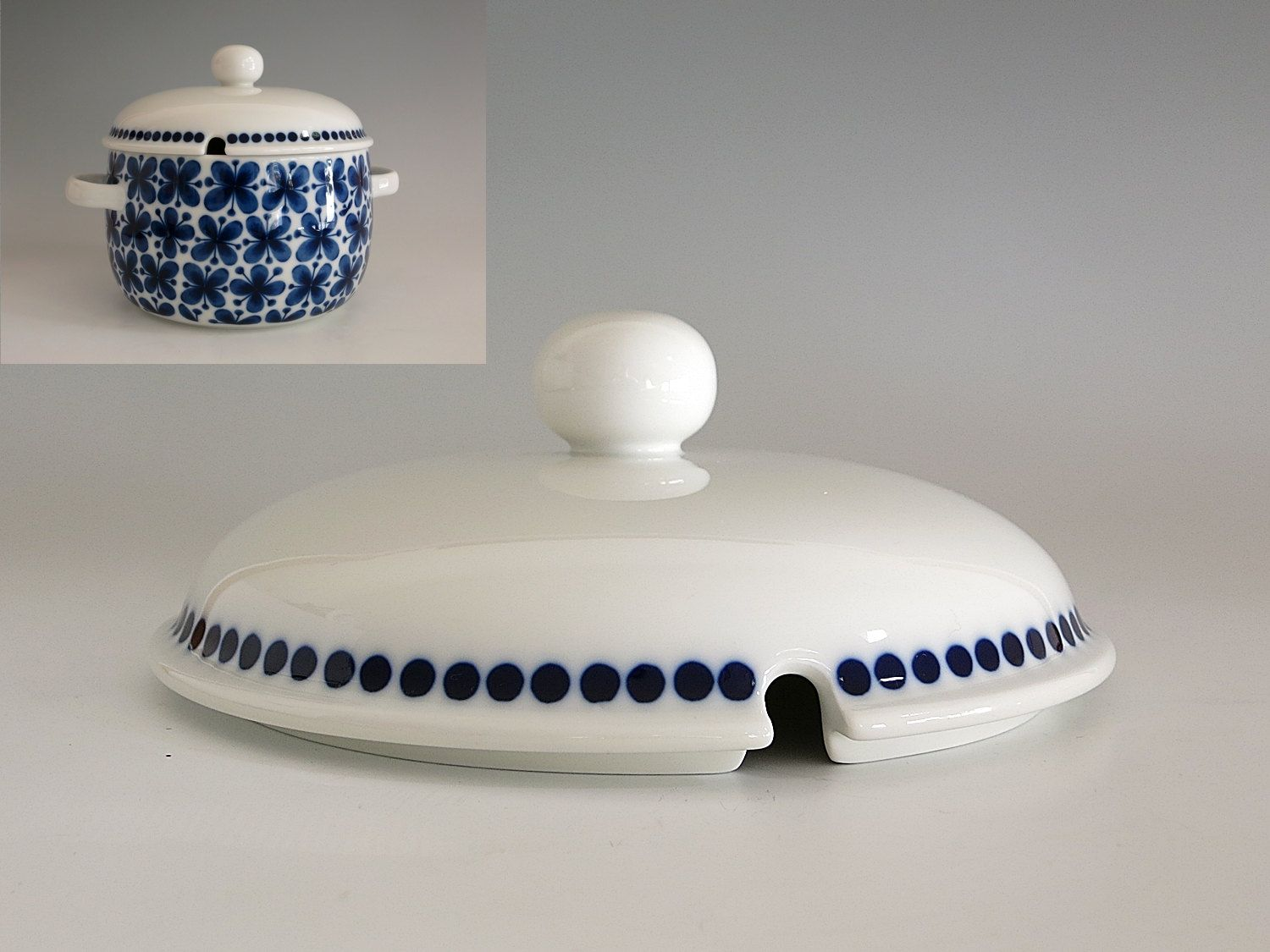 Vintage Replacement Rörstrand Sweden Mon Amie Lid for Large Casserole or Tureen - Marianne Westman Design - Replacement Lid Only by EightMileVintage on Etsy