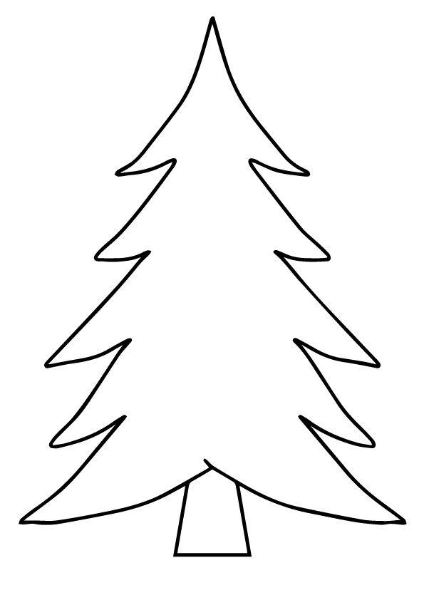 Print Coloring Image Momjunction Christmas Tree Coloring Page Christmas Tree Template Christmas Tree Stencil