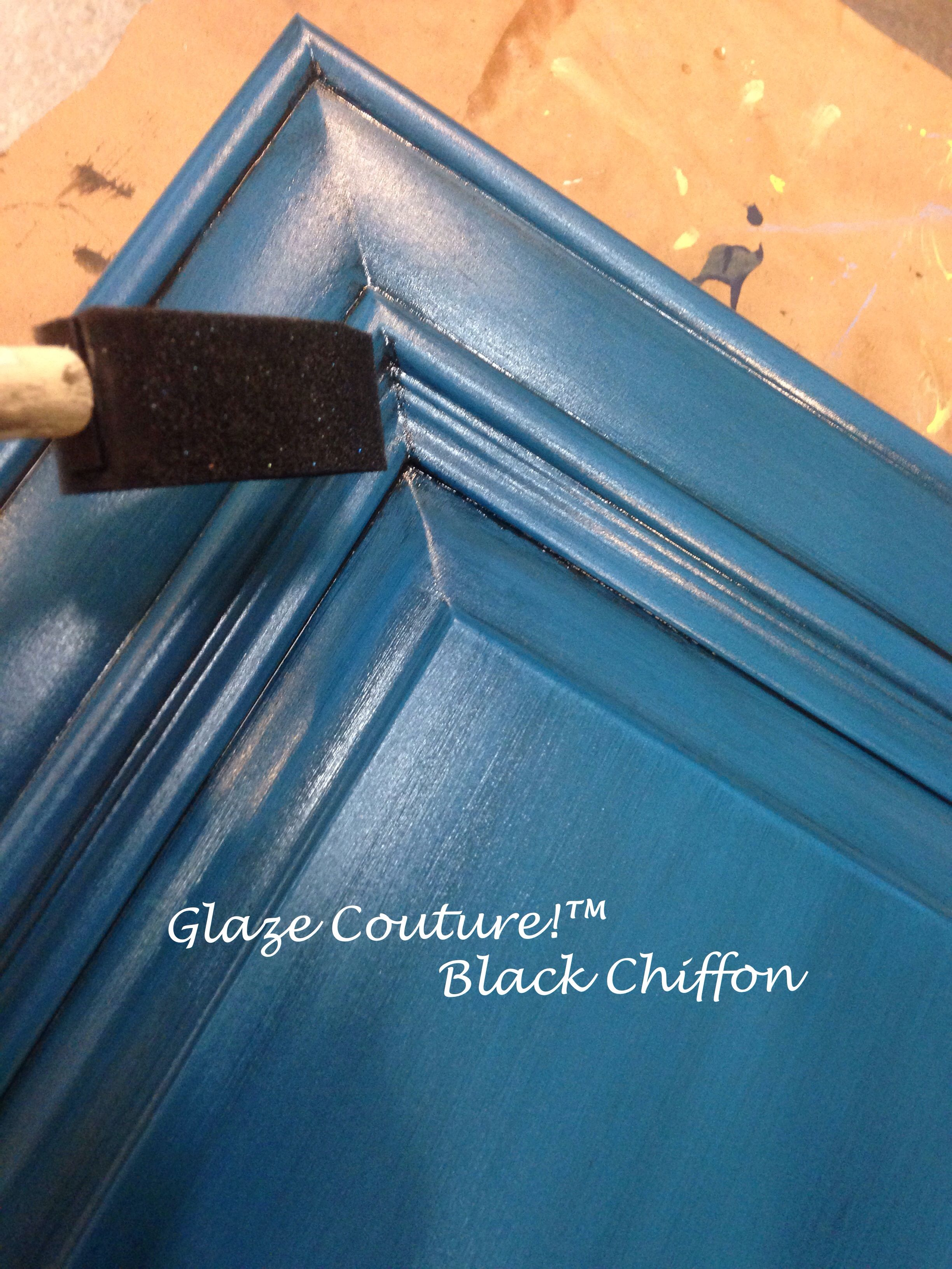 Glazing With Black Chiffon Over Lake Norman Signature Blue