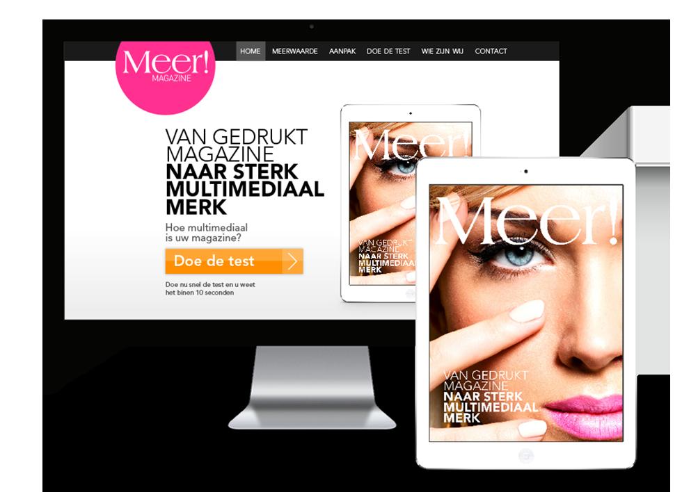 Meer! Magazine: Van gedrukt magazine naar sterk multimediaal merk. Voor Meer! is een website gemaakt, brochure en een visitekaartje ontworpen #madebyfizz #FIZZ
