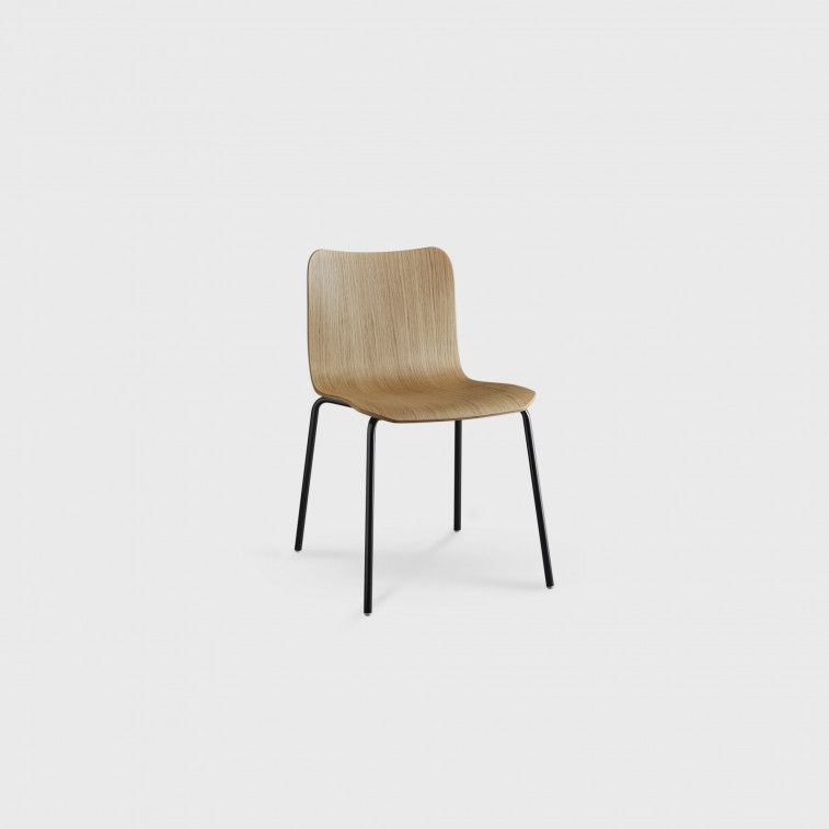 Dandy B Chair By Colico Is A Modern Italian Dining Chair With Chromed Or Painted Steel Legs And Seat Made Of Oak Wood It Feature With Images Home Decor Interior Decorating