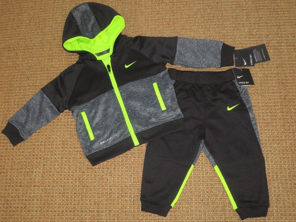 63a798def3 NIKE BABY BOY 12 MONTHS TRACKSUIT JOG SET OUTFIT JACKET PANTS DRI FIT NEW # Nike