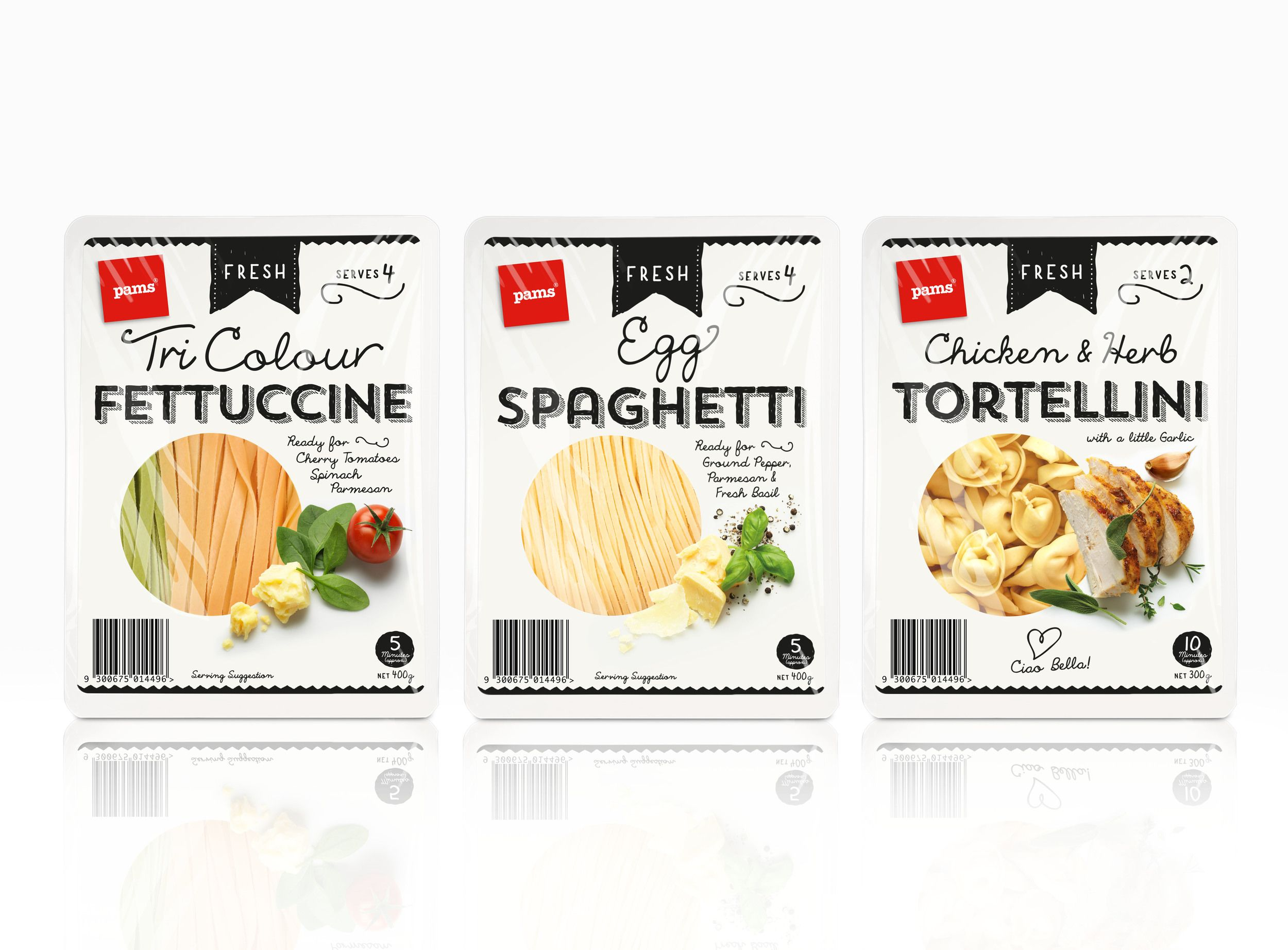 Pams Fresh Pasta | Fresh pasta and Package design