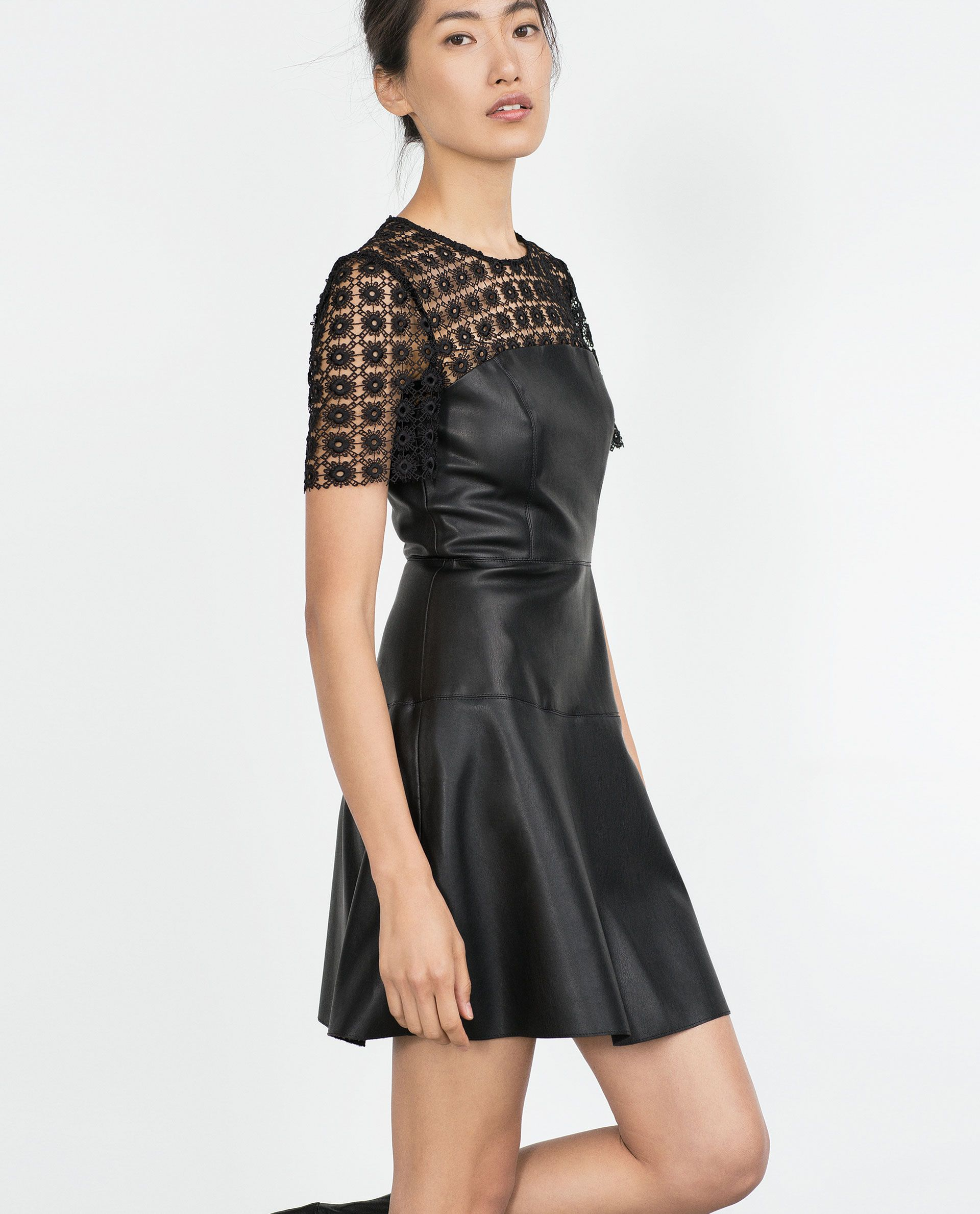 Zara Collection Aw15 Faux Leather Dress Shopping Spree