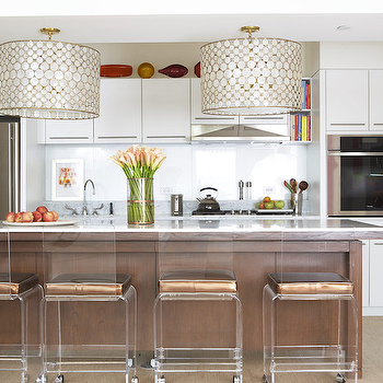 lucite bar stools, contemporary, kitchen, amanda nisbet design