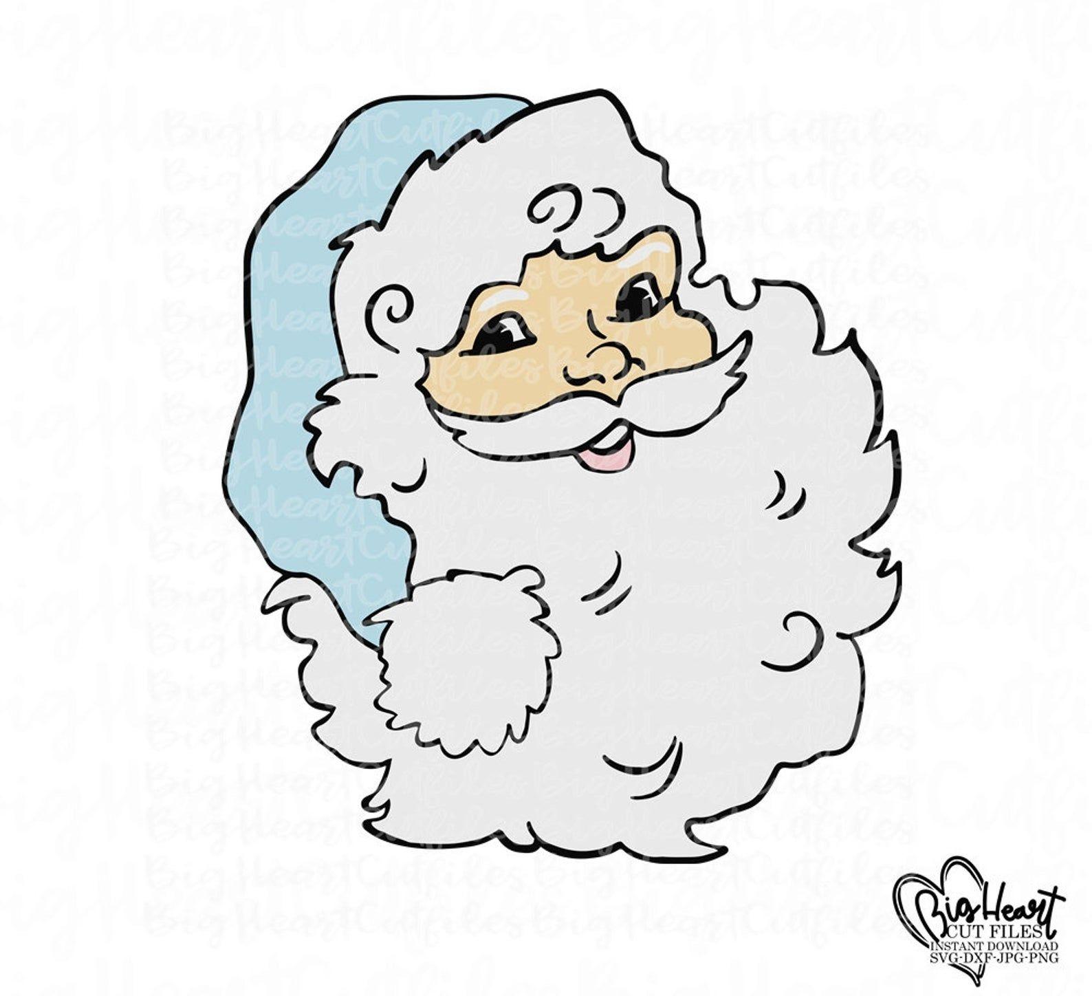 Santa Claus Svgsanta Face Svgpngjpgdxfsanta Head Etsy Santa Face Christmas Svg Vintage Santas