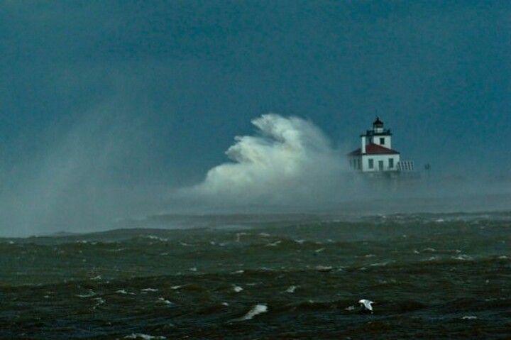 Oswego Lighthouse on Lake Ontario in New York state.