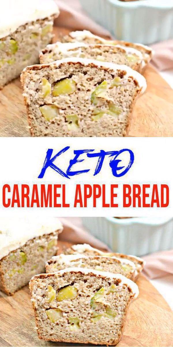 Keto Bread! Low Carb Caramel Apple Loaf Bread Idea – Quick & Easy Ketogenic Diet Recipe – Completely Keto Friendly – Gluten Free – Sugar Free - Keto Recipes and Ideas -