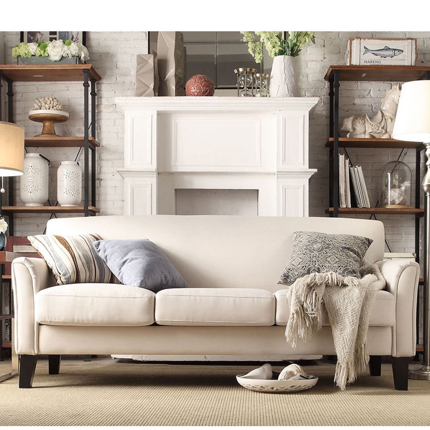 Add stylish seating to your room with this comfortable Uptown sofa. This  modern piece features