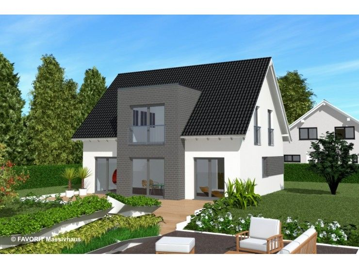 Massivhaus modern satteldach  Noblesse 128 - #Einfamilienhaus von Bau Braune Inh. Sven Lehner ...