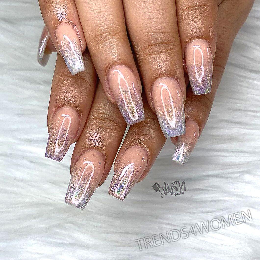 #acrylicnails #nailsdid #lovenails #ombrenails #halonails #chromenails #prettynails #nailsonpoint #southgate #southgatenailtech #nailsonfleek #nailsoftheday #nudenails