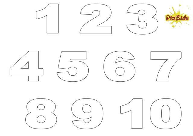Ausmalbild Zahlen 1 10 Kostenlos Ausdrucken Schablonen Pinterest