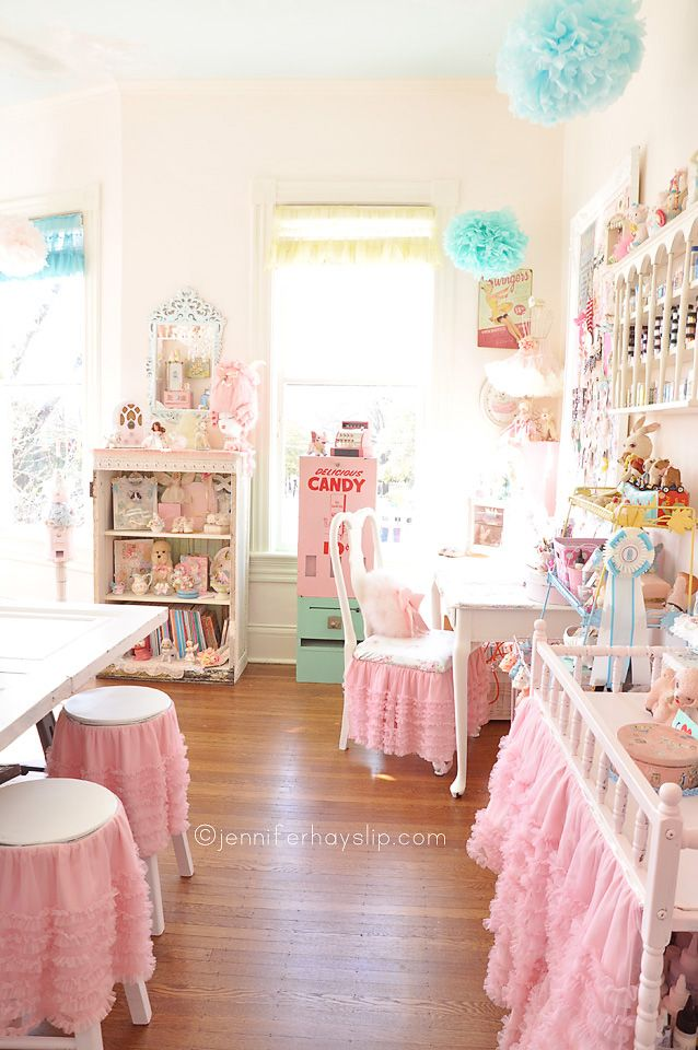 vintage shabby chic inspired office. 10 Creative Craft Rooms And Home Offices. Shabby Chic Vintage Inspired Office