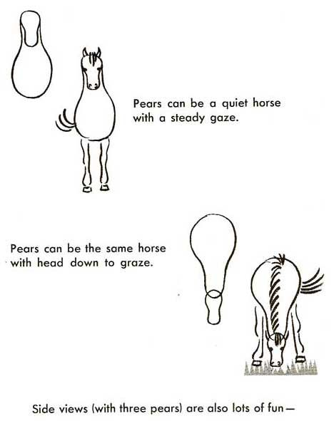 Pferd Tiere Einfach Zeichnen Zeichnungen