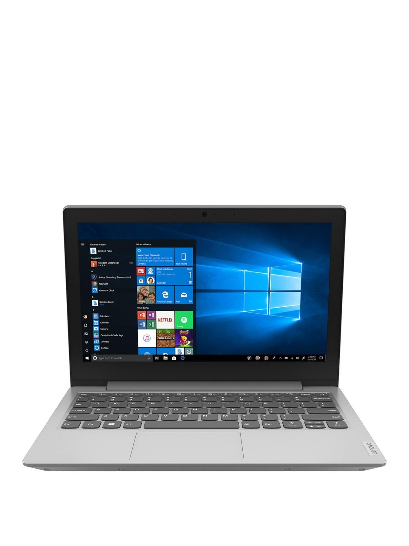 Ideapad Slim 1 Amd A4 64gb Emmc Ssd 11 6 Inch Hd Laptop With Microsoft Office 365 Personal Included Platinum Grey Office 365 Personal Lenovo Ideapad Lenovo