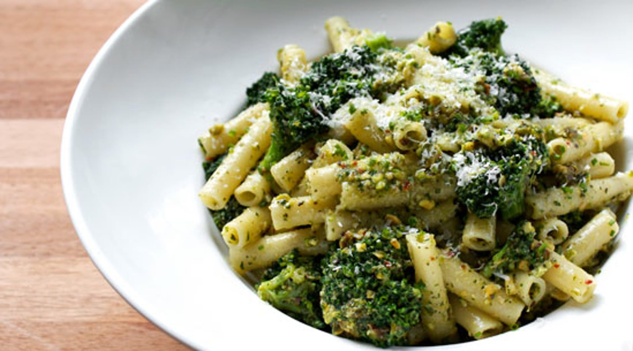 Pasta with Pistachios, Meyer Lemon and Broccoli