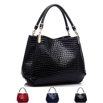 Women Leather Crocodile Bag Ladies Designer Handbags High Quality ...