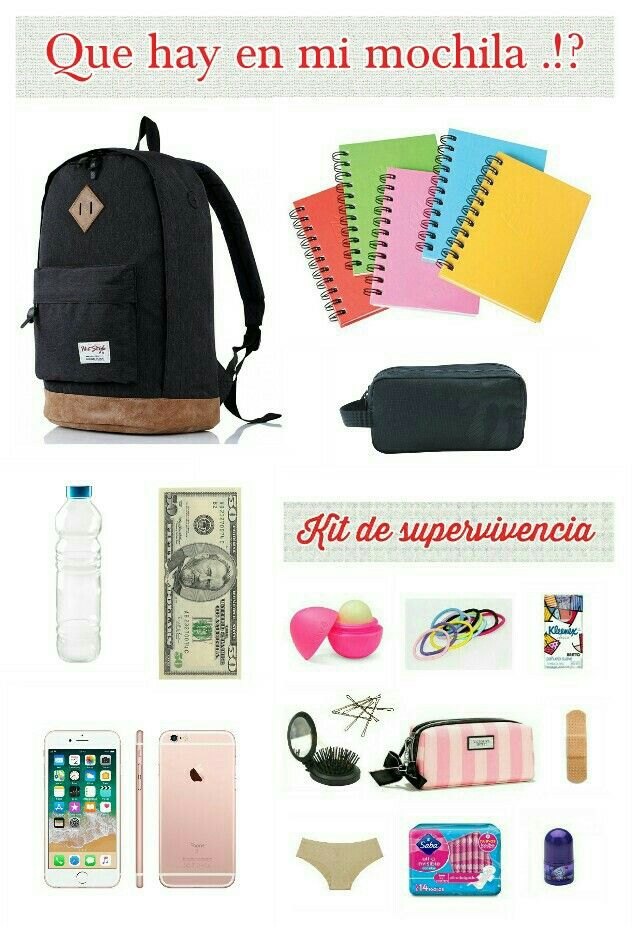 Que hay en mi mochila lo esencial para secundaria for A que zona escolar pertenece mi escuela