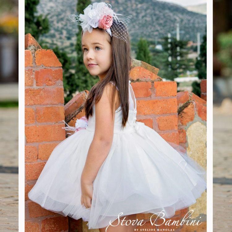 79bed556f22a Φόρεμα Βάπτισης G8 της Stova Bambini SS2019 Η Συλλογή Βαπτιστικών της Stova  Bambini για το Καλοκαίρι