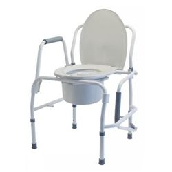 Lumex Steel Drop Arm Commode model 6433A with removable backbar fits ...