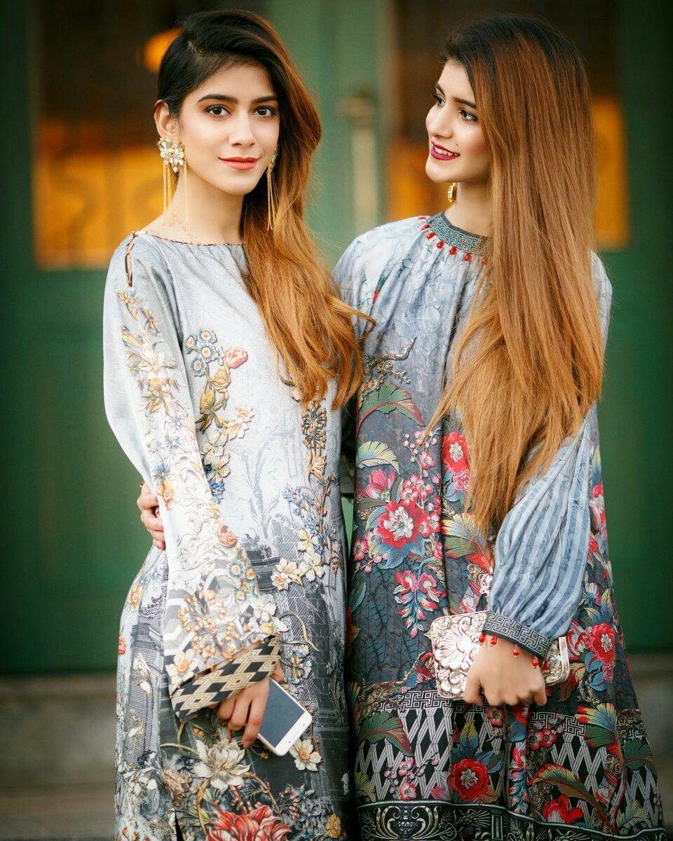 7fc843b04c Hamayal and hira beautiful twin sistrs Pakistani Models, Pakistani Dresses,  Indian Dresses, Indian