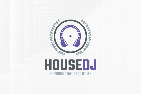 house dj logo template by graphicsauthor templates pinterest