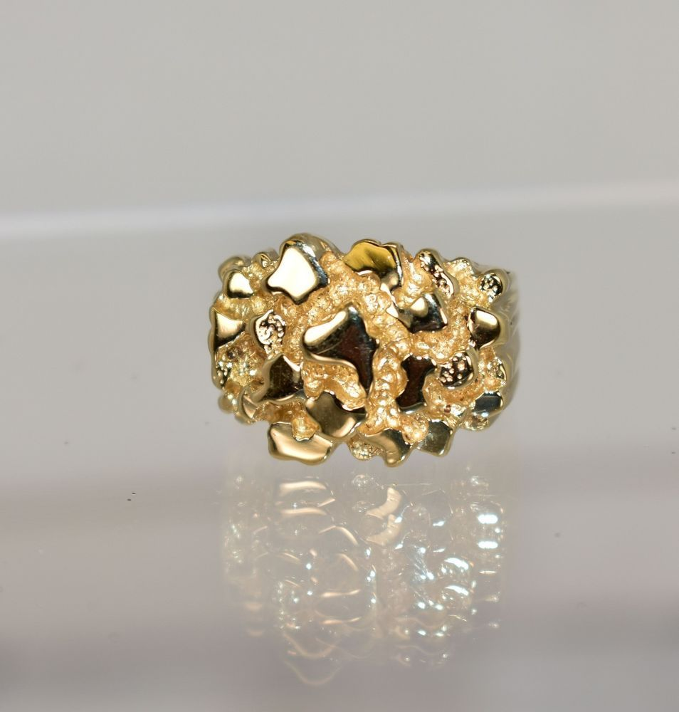 Size Jewel Tie Solid 14k Yellow Gold Mens Leaf Ring 9.5
