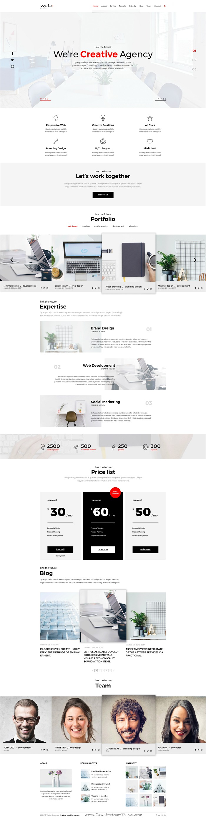 Webr is clean and modern design template for